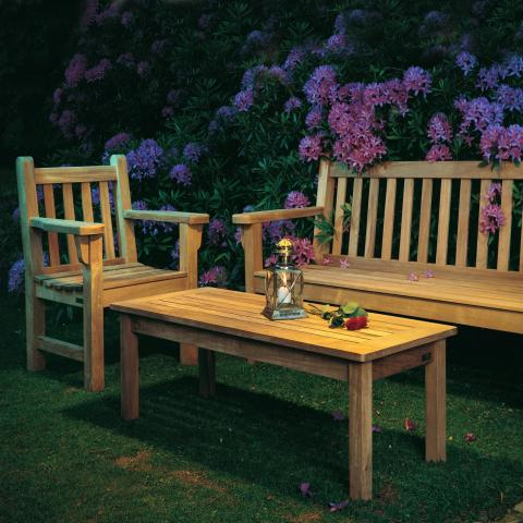 Clifton Nurseries barlow tyrie london traditional teak garden bench set