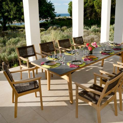 Clifton Nurseries barlow tyrie monterey teak ceramic outdoor 10 seater dining set