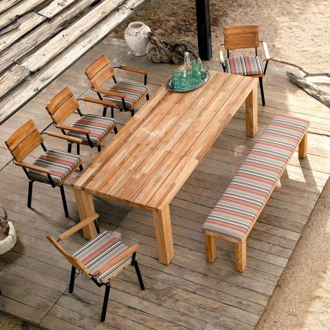 Clifton Nurseries Barlow Tyrie Titan Rustic Teak Garden Dining Set