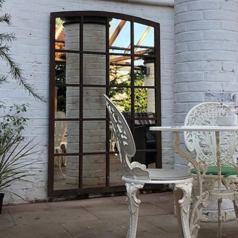 Belgian Heritage Factory Mirror from Aldgate Home