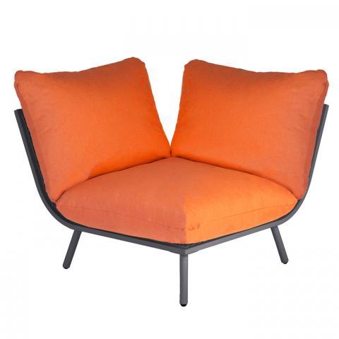Clifton nurseries alexander rose beach collection corner module with orange cushion garden furniture