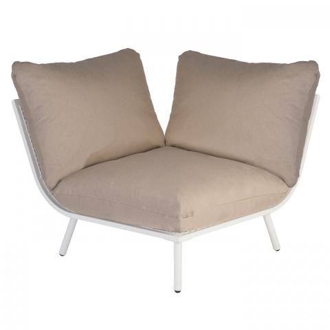 Clifton nurseries alexander rose beach collection corner module with taupe cushion garden furniture