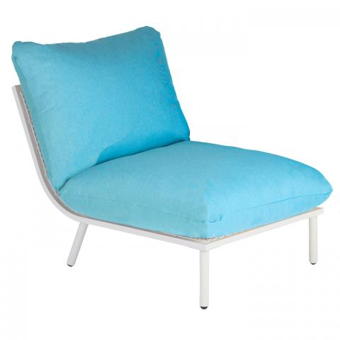 Clifton nurseries alexander rose beach collection middle module with turquoise cushion garden furniture