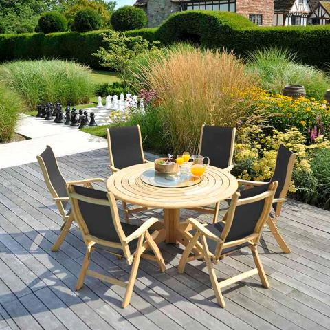 Clifton Nurseries alexander rose bengal 6 seater outdoor dining set