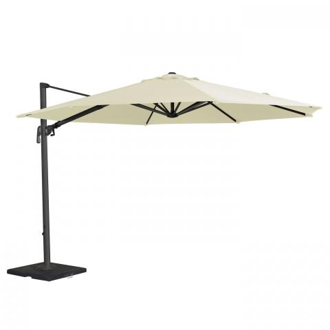 clifton nurseries alexander rose 3.5 meter diameter aluminium cantilever parasol UH35 garden furniture