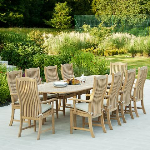Clifton Nurseries Alexander Rose Bengal Roble Extending Dining Set