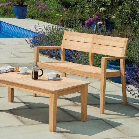 Clifton Nurseries alexander rose hardwood bench 4ft
