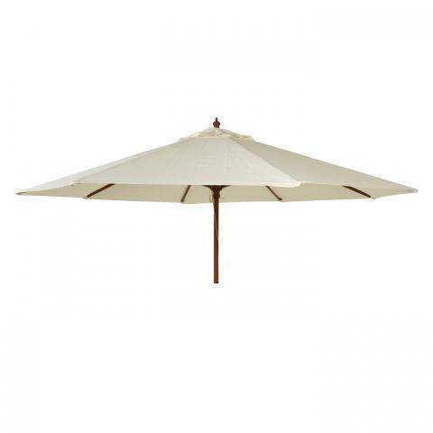 Alexander Rose Hardwood Round Parasol 2.7m Ecru at Clifton Nurseries