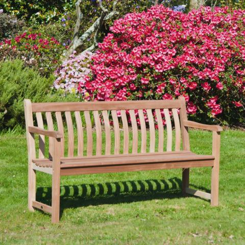 Clifton Nurseries alexander rose mahogany broadfield hardwood garden bench