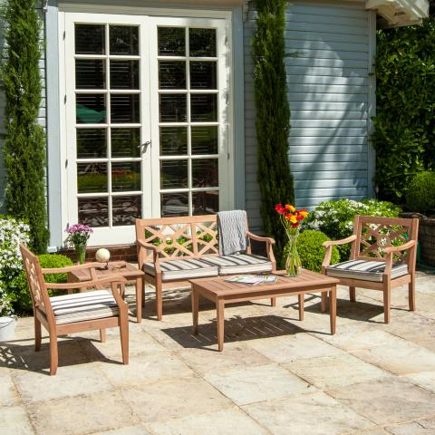 clifton nurseries alexander rose mahogany collection heritage lounge set clay