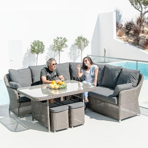Clifton Nurseries alexander rose monte carlo casual dining set