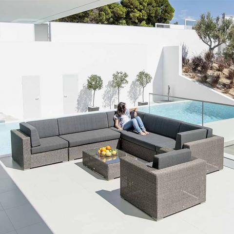 Clifton Nurseries alexander rose monte carlo grey weave casual outdoor sofa seating set