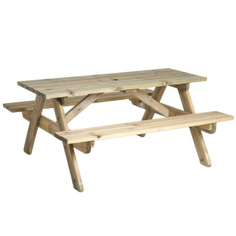 Clifton Nurseries Alexander Rose Pine Collection Woburn Picnic Table 6ft