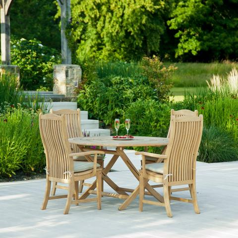 Alexander Rose Roble Bengal Round Folding Table at Clifton Nurseries