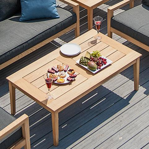 Clifton Nurseries alexander rose roble rectangular hardwood coffee table 120cm