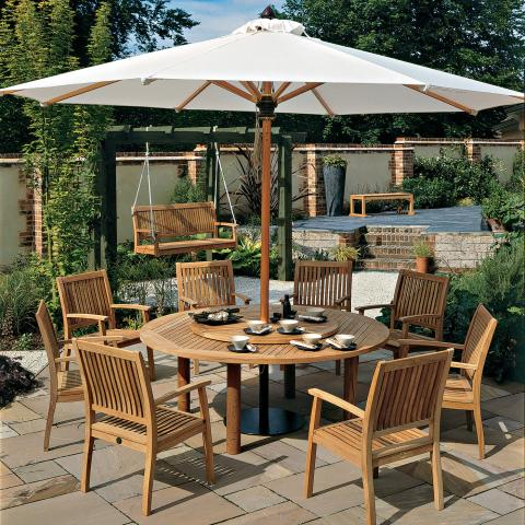 Clifton Nurseries Barlow Tyrie Monaco 8 Seater teak garden dining set