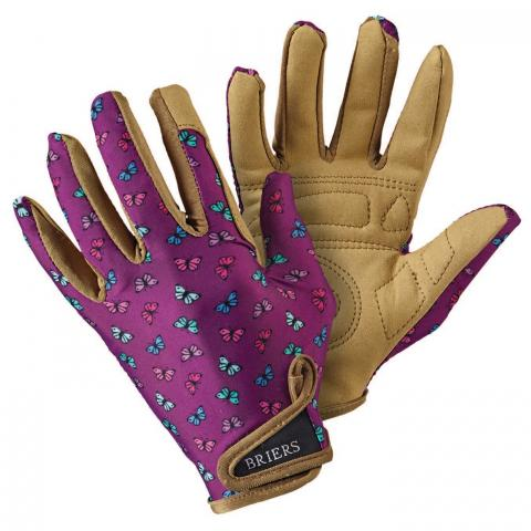 Clifton Nurseries briers gardening gloves proffesion'elle ladies purple butterfly print