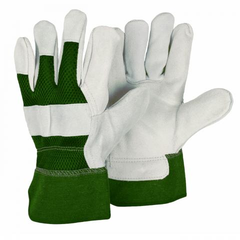 Clifton Nurseries Briers glove reinforced rigger gardening glove green grey
