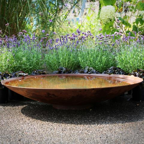 Clifton Nurseries Corten Steel Water Bowl