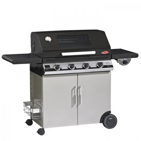 Clifton Nurseries Discovery 4 Burner Hood Cabinet Trolley with Side Burner