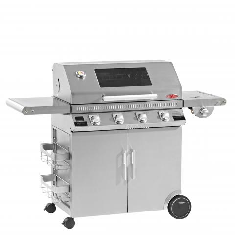 Clifton Nurseries Discovery 1100s 4 Burner BBQ Hood Cabinet Trolley with Side Burner