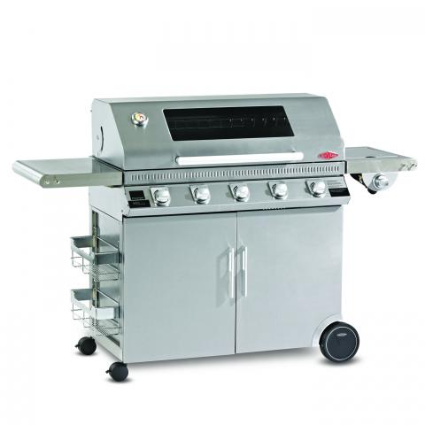 Clifton Nurseries Discovery 1100s 5 Burner BBQ Hood Cabinet Trolley with Side Burner