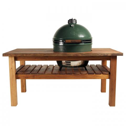 Clifton Nurseries Big Green Egg - Mahogany Table and Table Nest for Extra Large EGG