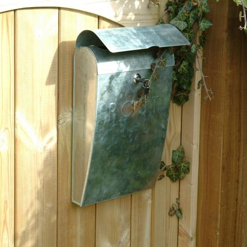 Clifton Nurseries Galvanised Post Box