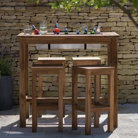 Clifton Nurseries Trading St Mawes Teak Bar Set