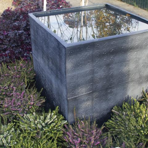 Clifton Nurseries living green water tank cardinal aged lead planter