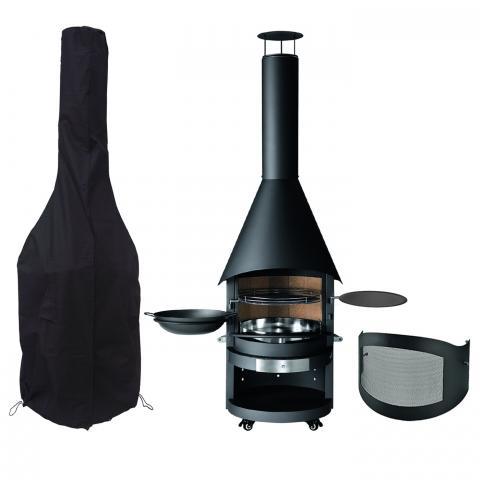 Clifton Nurseries mercatus garden bbq outdoor fireplace steel kit