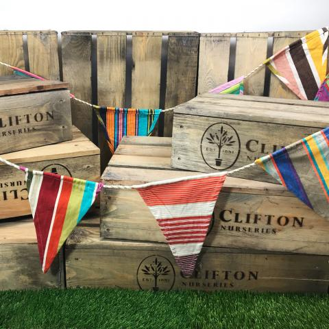 Clifton Nurseries Multi Stripe Cotton Bunting