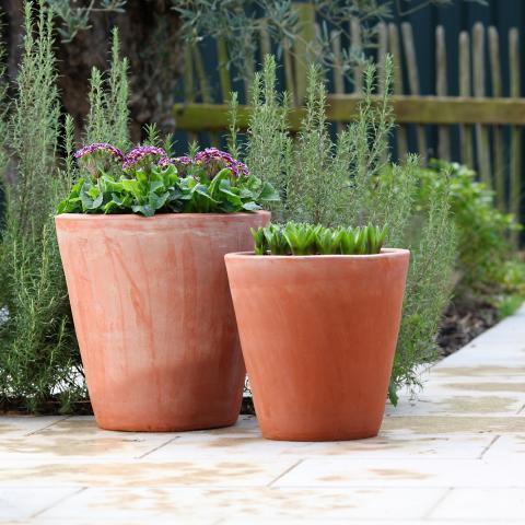 clifton nurseries terracini long tom 35cm 43cm garden pot