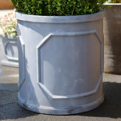 Clifton Nurseries Fibrestone Chelsea Cylinder Pot - Black