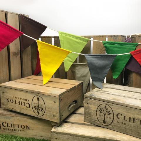 Clifton Nurseries Rainbow Cotton Bunting