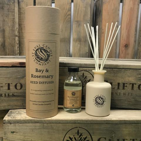 Clifton Nurseries Rosemary & Bay Leaf Scented Diffuser Set