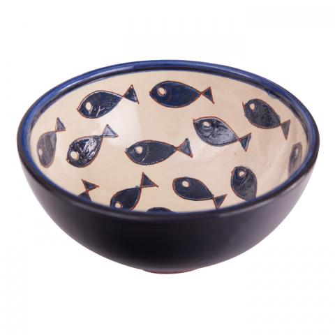 Clifton Nurseries Verano Spanish Ceramics Blue Fish – Appetiser Bowl