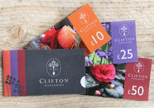 Clifton Nurseries Gift Vouchers